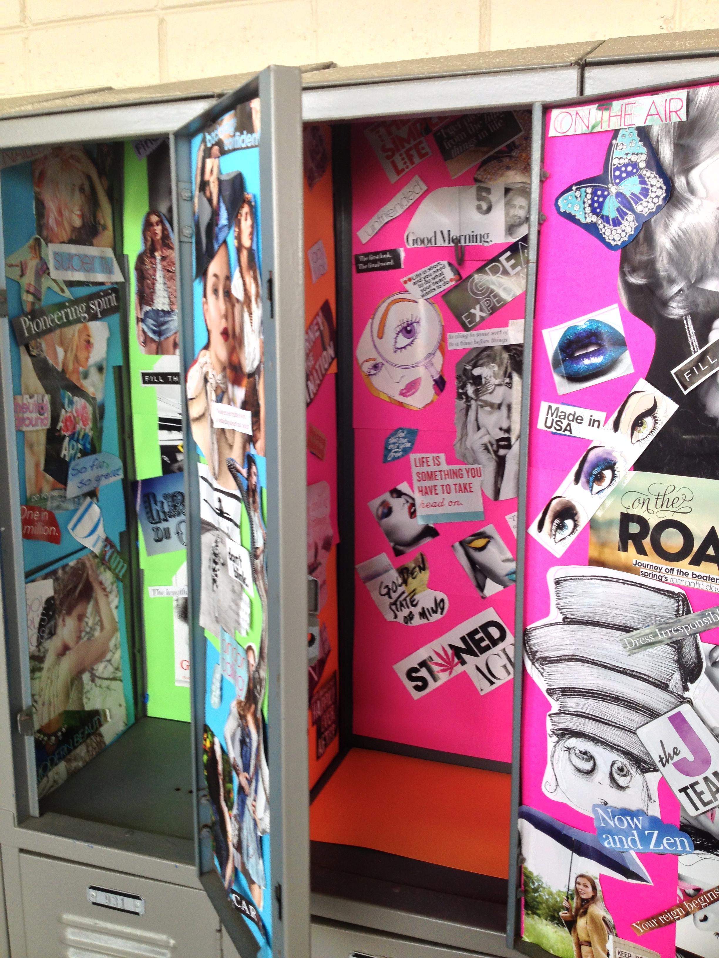 lockers cute locker ideas decorating locker diy pintrest sydneyjoto - Locker Designs Ideas